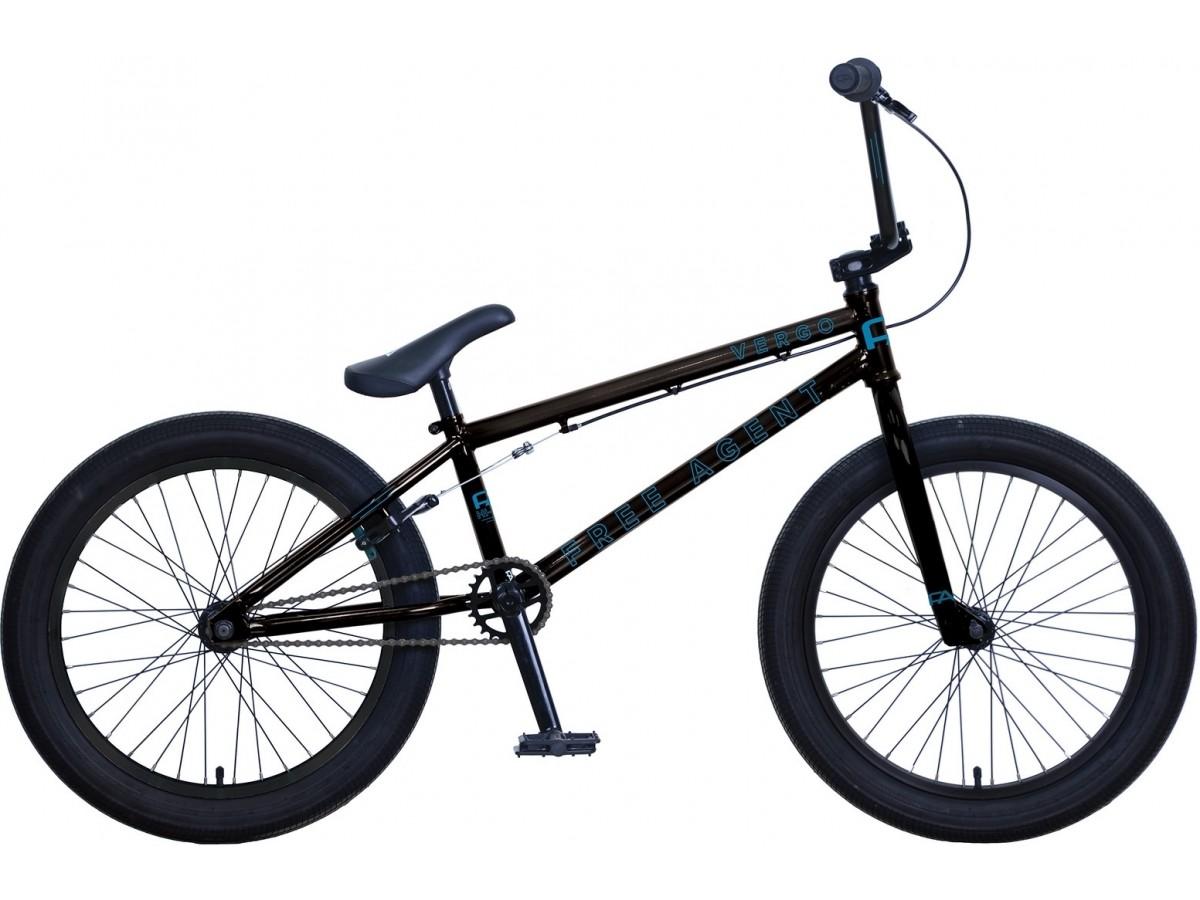 "FREEAGENT VERGO BLACK 20"" BMX FREESTYLE"